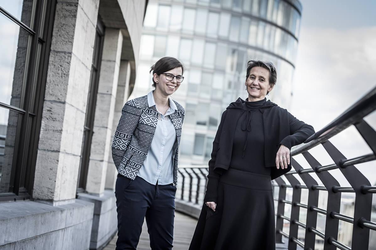 Kristel Beyens en Elien Audenaert
